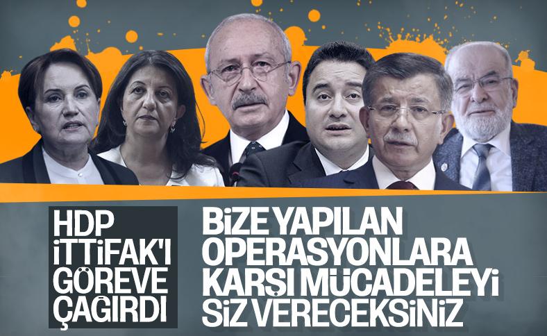 HDP muhalefet partilerinden destek istedi
