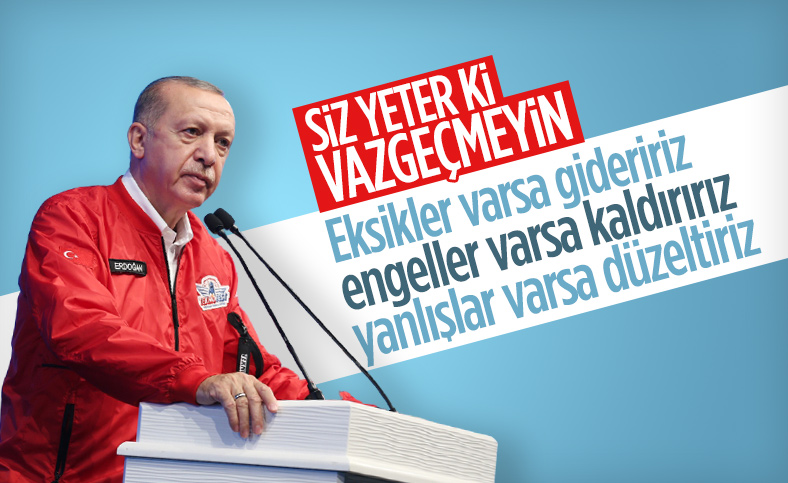 Cumhurbaşkanı Erdoğan Gaziantep'te düzenlenen Teknofest'te