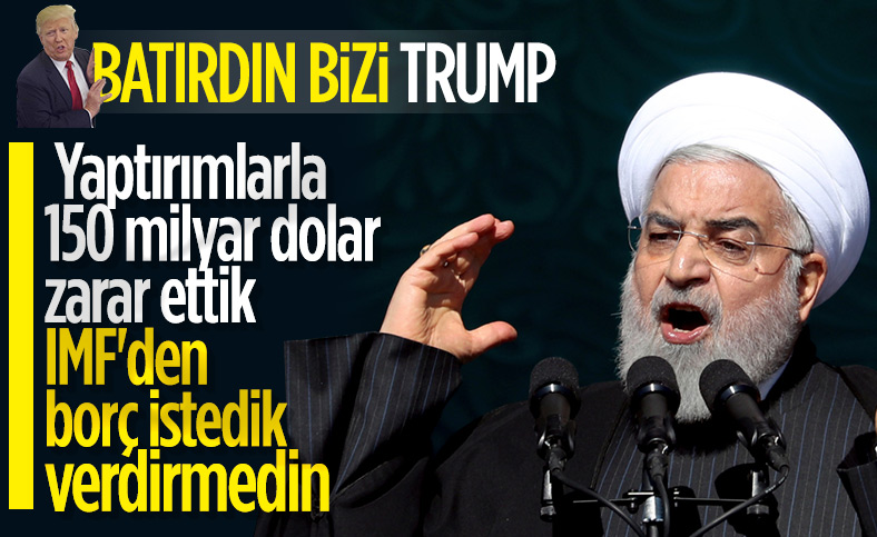 Ruhani: ABD'nin yaptırımları İran'a 150 milyar dolar zarar verdi
