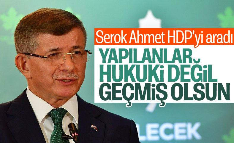 Ahmet Davutoğlu'ndan HDP'ye 'geçmiş olsun' telefonu