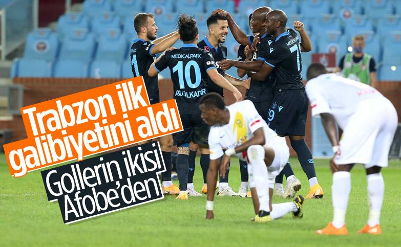 Trabzonspor, Yeni Malatyaspor'u mağlup etti