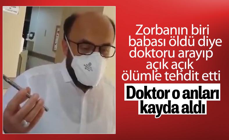 Trabzon'da babası ölen şahıs doktoru tehdit etti