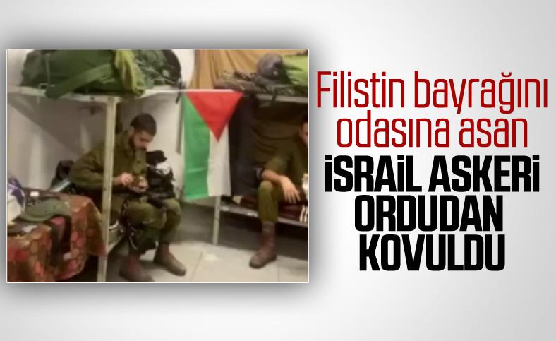 İsrail'de bir asker odasına Filistin bayrağı astı