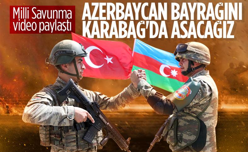 Milli Savunma Bakanlığı'ndan Azerbaycan'a destek videosu