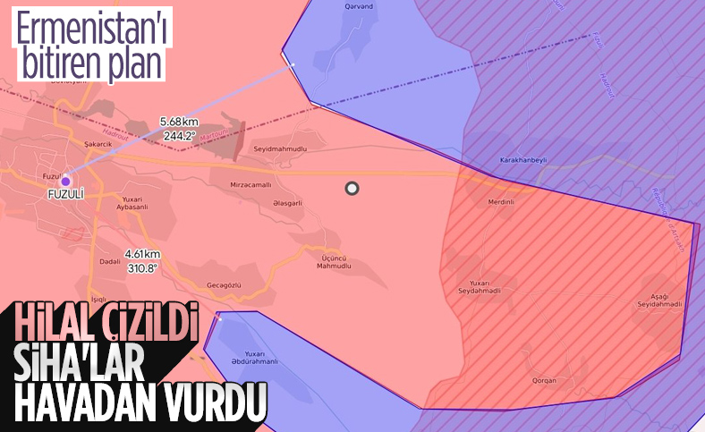 Azerbaycan'dan Ermenilere SİHA'larla birlikte hilal taktiği