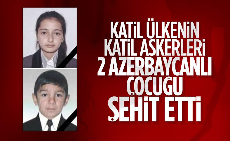 Ermenistan'ın saldırısında okul öğrencileri şehit oldu