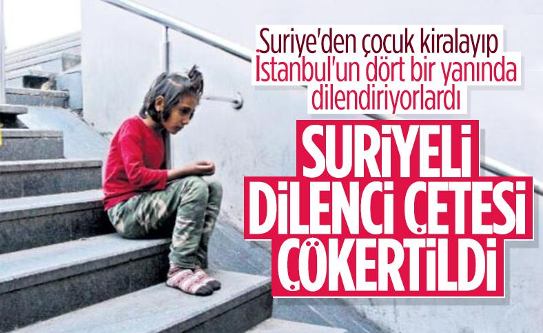 İstanbul'da Suriyeli çocukları dilendiren çete çökertildi