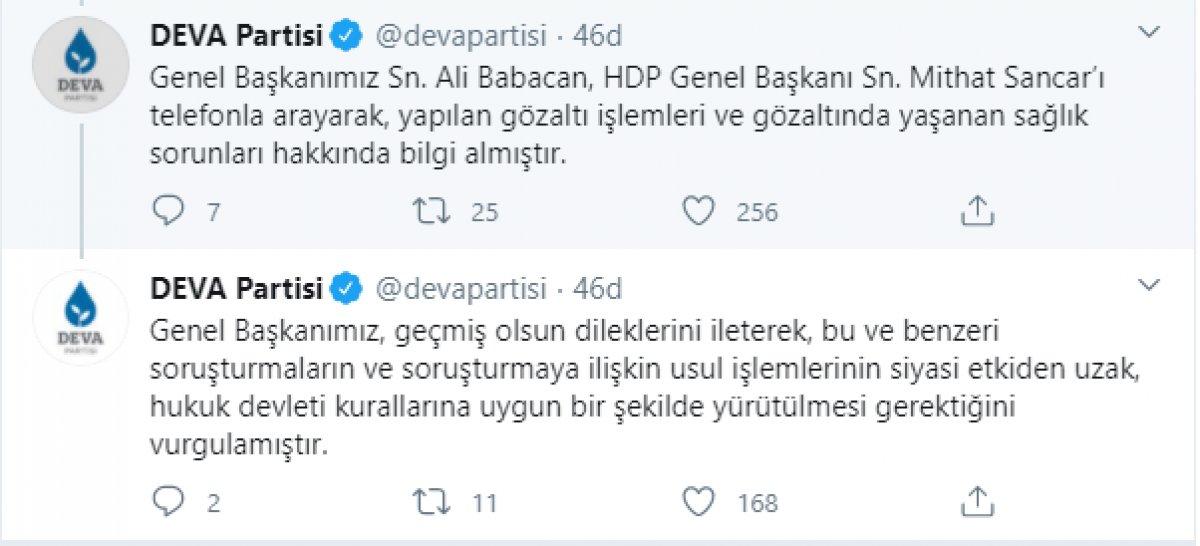 Ali Babacan dan HDP ye telefon #1