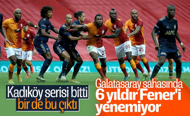 Galatasaray, 6 yıldır sahasında Fenerbahçe'yi yenemiyor