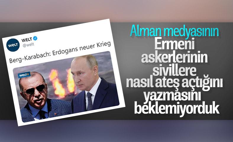 Alman gazetesi Azerbaycan geriliminde Cumhurbaşkanı Erdoğan'ı hedef aldı