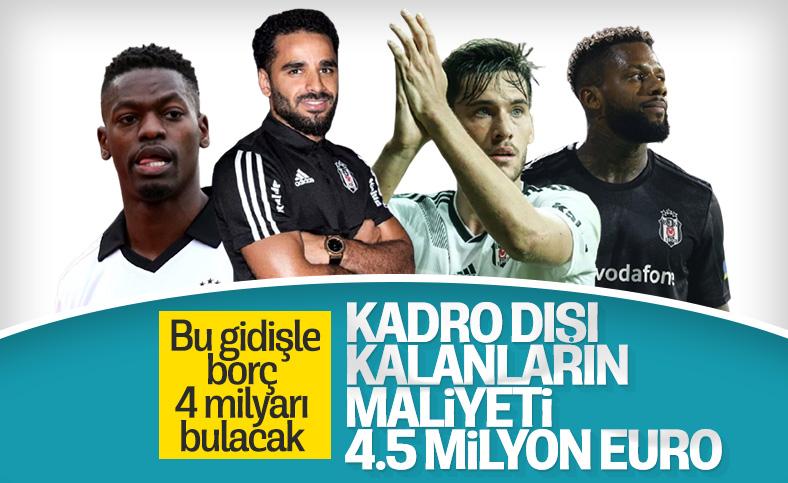Beşiktaş'ta kadro dışı kalanların maliyeti: 4.5 milyon euro