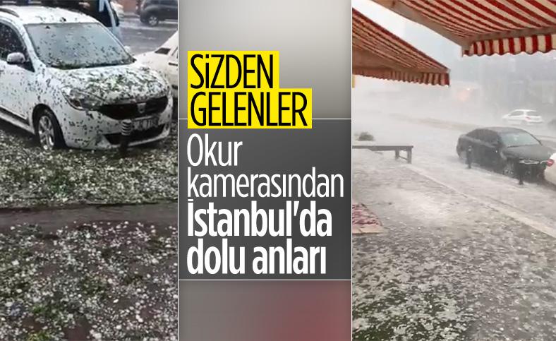 İstanbul'da okur kamerasından dolu anları