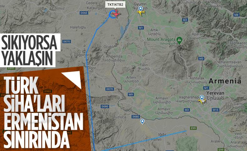 Türk SİHA'ları Ermenistan sınırında