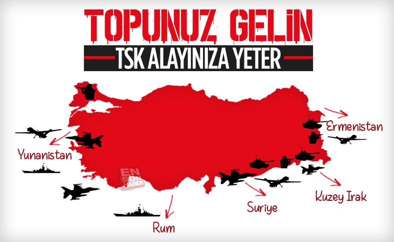 Türkiye'nin düşmanla mücadele verdiği 5 farklı cephe