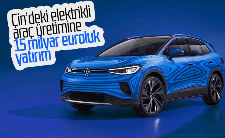 Volkswagen, Çin'deki elektrikli araç üretimine 15 milyar euro yatıracak