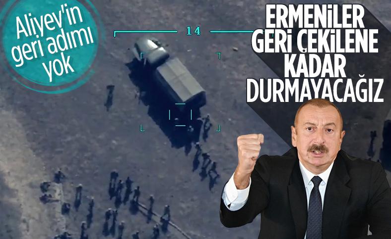 İlham Aliyev: Ermenistan geri çekilirse çatışma durur