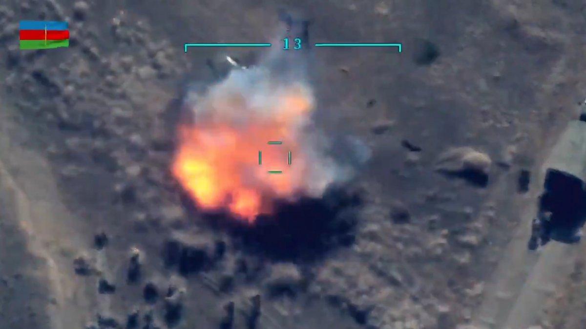 Azerbaycan ordusu, Ermenilerin destek birliğini vurdu #3