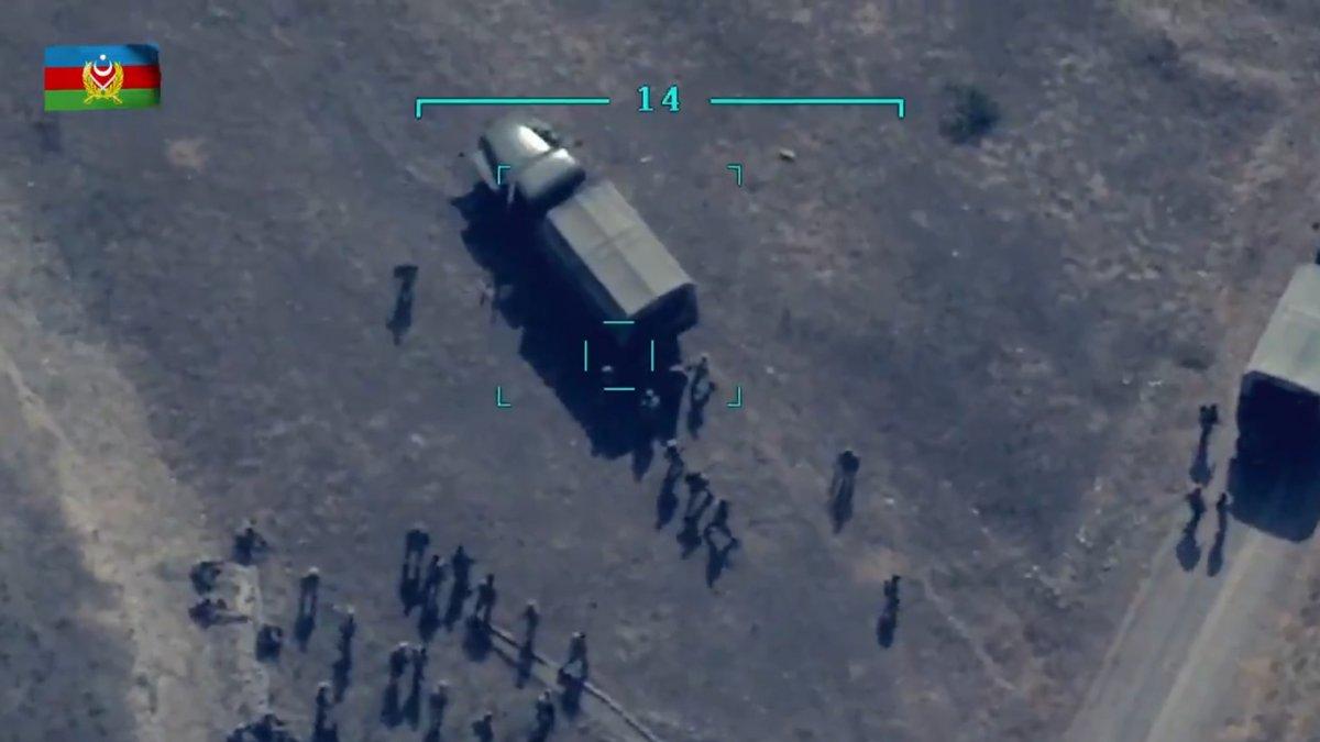 Azerbaycan ordusu, Ermenilerin destek birliğini vurdu #1