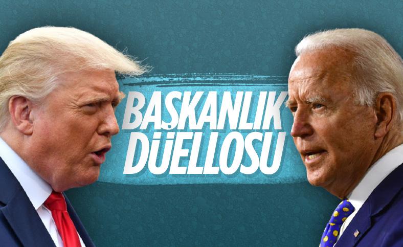 Trump ve Biden seçim öncesi ilk canlı yayında karşı karşıya