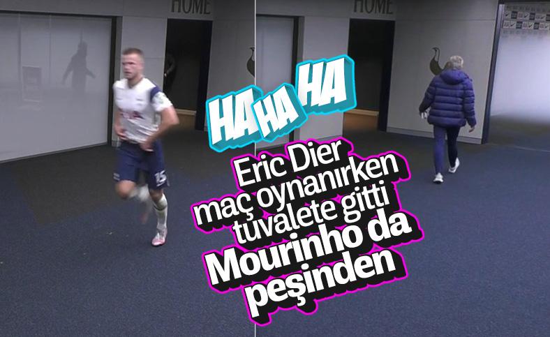 Maçın ortasında tuvalete giden Dier'i Mourinho getirdi