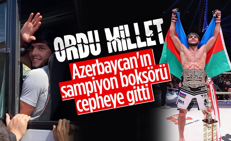 Azerbaycan'da karma dövüş sporcusu Tofiq Musayev orduya katıldı