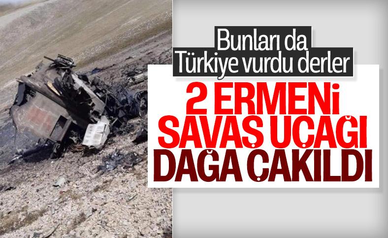 Ermenistan'a ait 2 savaş uçağı düştü