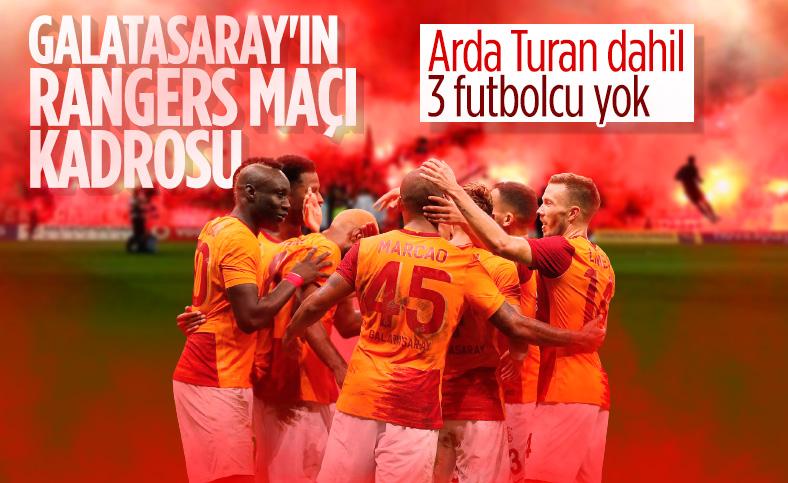 Galatasaray'ın Rangers maçı kamp kadrosu