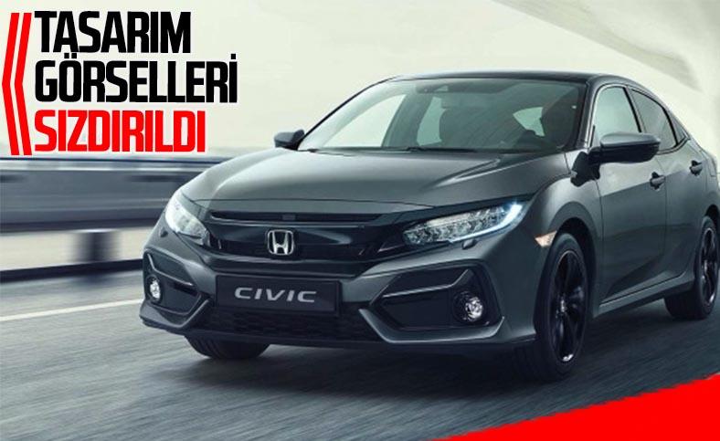 Yeni Honda Civic'in tasarım görselleri sızdırıldı