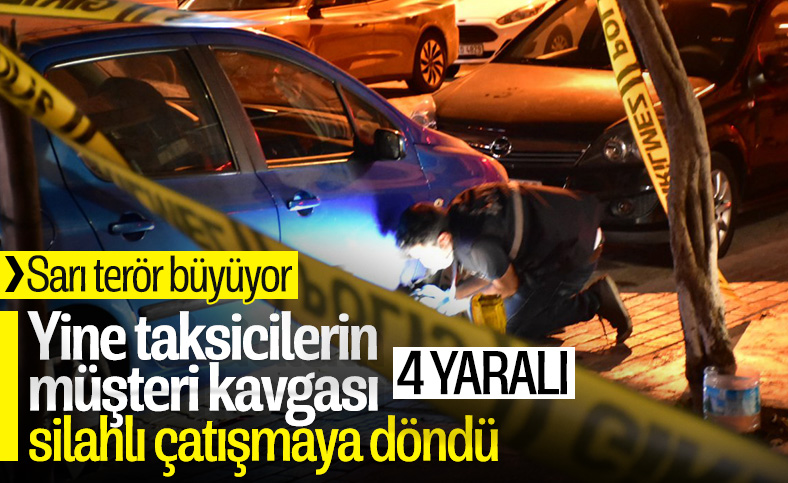 İzmir'de taksicilerin müşteri kavgası: 1'i ağır, 4 yaralı
