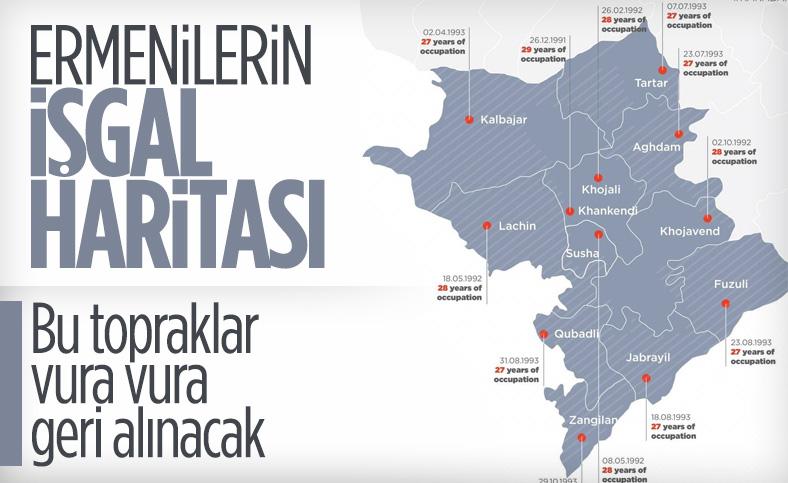 Ermenistan'ın işgal ettiği Azerbaycan toprakları