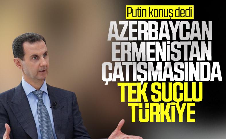 Esad'ın danışmanı Azerbaycan-Ermenistan çatışmasından Türkiye'yi suçladı