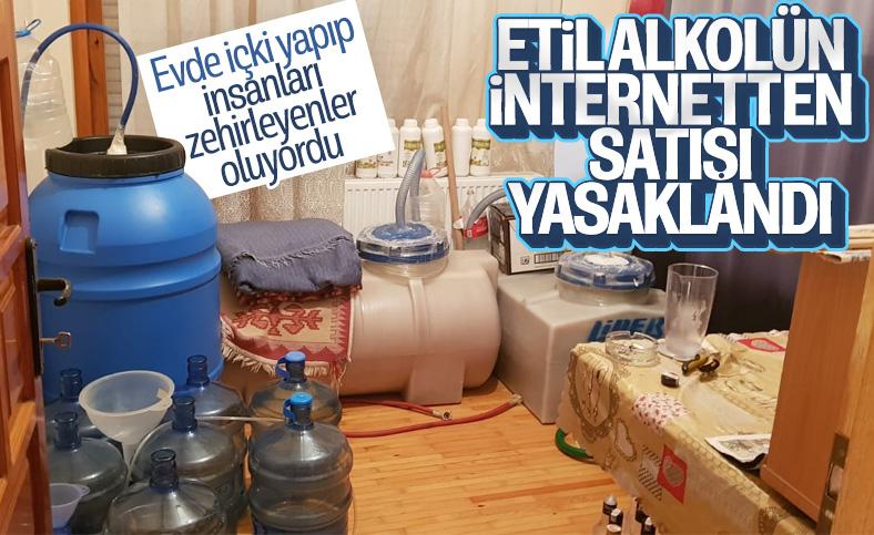 Etil alkol ve metanolün internet satışı yasaklandı