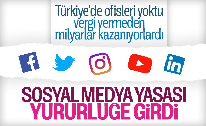 Sosyal medya yasası yürürlükte