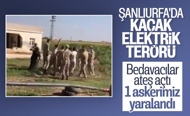 Şanlıurfa'da kaçak elektrik denetiminde 1 asker yaralandı