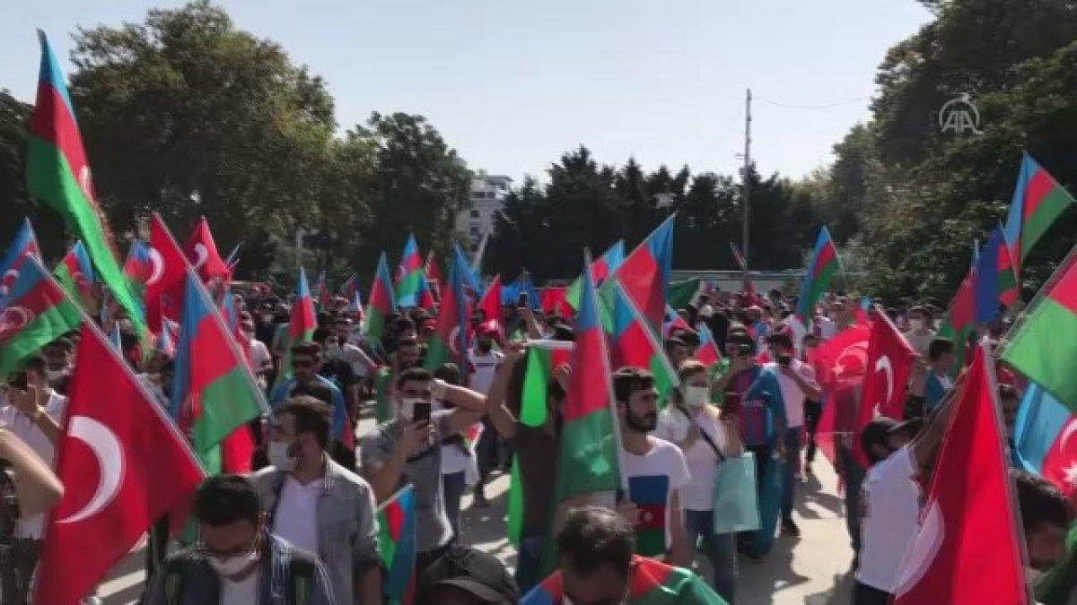 Türkiye deki Azerbaycanlılar dan ülkelerine destek gösterisi #2
