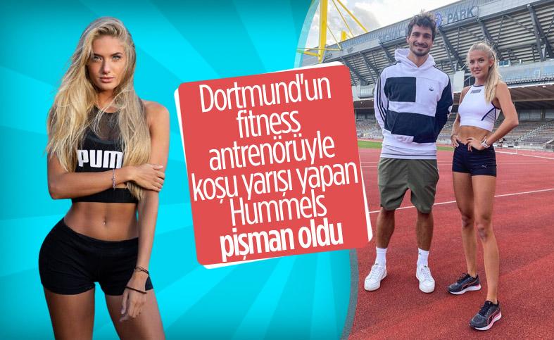 Alica Schmidt, 400 metre yarışında Mats Hummels'i geçti
