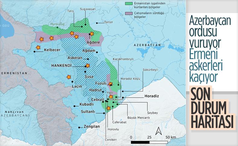 Azerbaycan'ın, Ermeni işgali altındaki toprakları kurtarma operasyonu devam ediyor