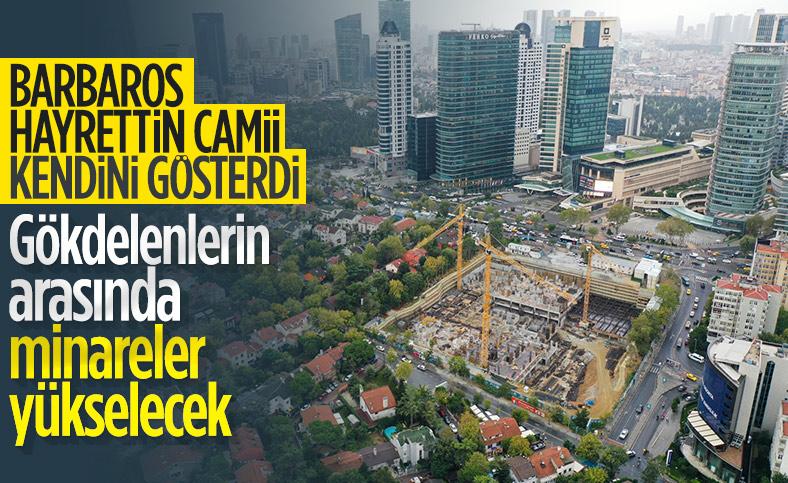 Levent'te inşa edilen Barbaros Hayrettin Paşa Camii, 2,5 yıl sonra ibadete açılacak