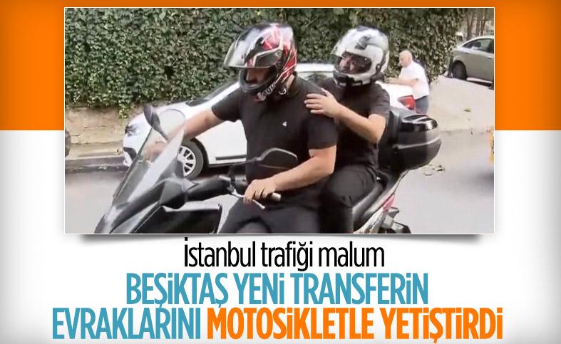 Beşiktaş, Rachid Ghezzal'ı motosikletle yetiştirdi