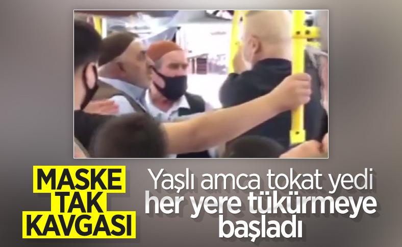 İstanbul'da halk otobüsünde yolcuların maske kavgası