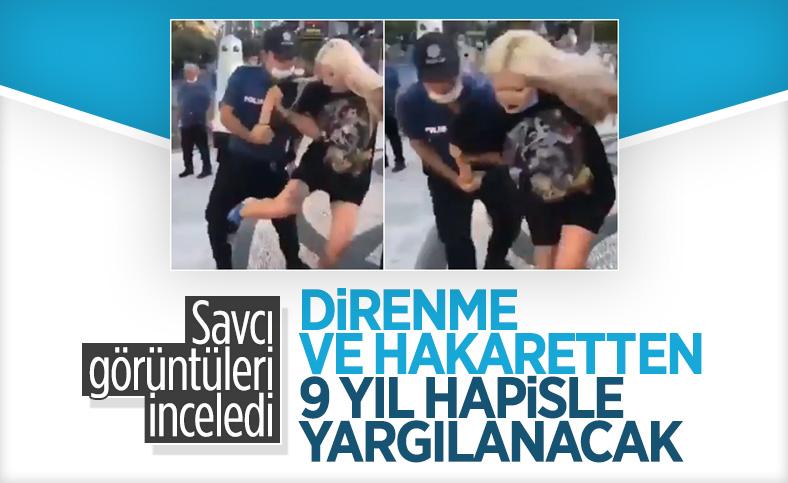 Kadıköy'de maske takmayıp polisle tartışan Rana Batı'ya 9 yıl 4 ay ceza istendi