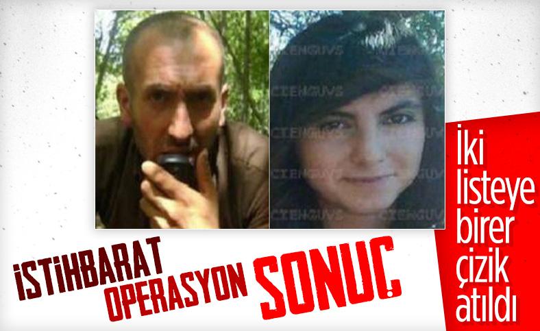 Tunceli'de kırmızı ve turuncu listede bulunan 2 terörist öldürüldü