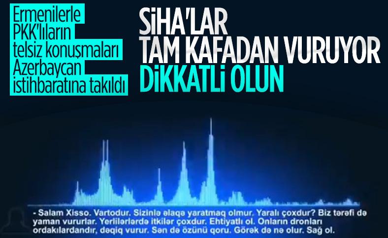 Azerbaycan, Karabağ'da Ermenistan için savaşan PKK'lı teröristlerin telsiz konuşmalarını yayınladı
