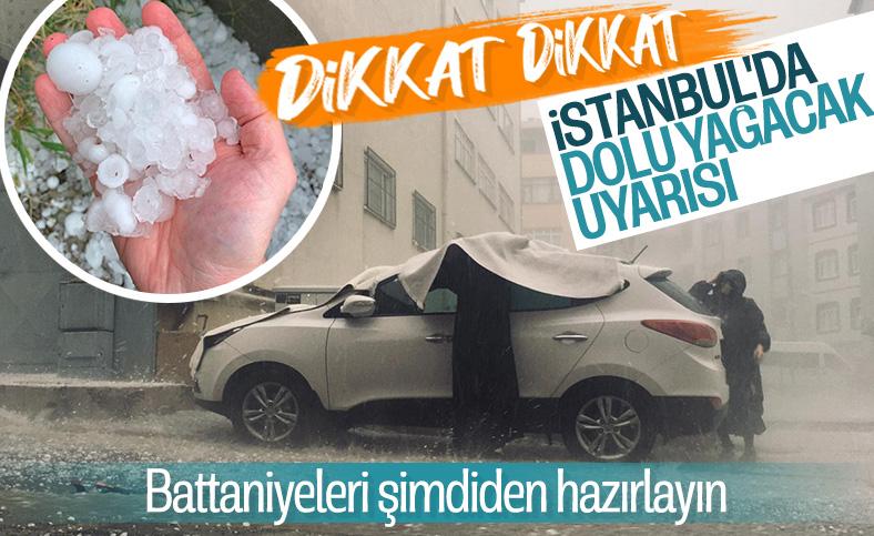İstanbul'da perşembe ve cuma günü için dolu uyarısı