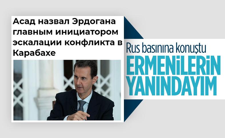 Esad, Dağlık Karabağ'da Türkiye'yi suçladı