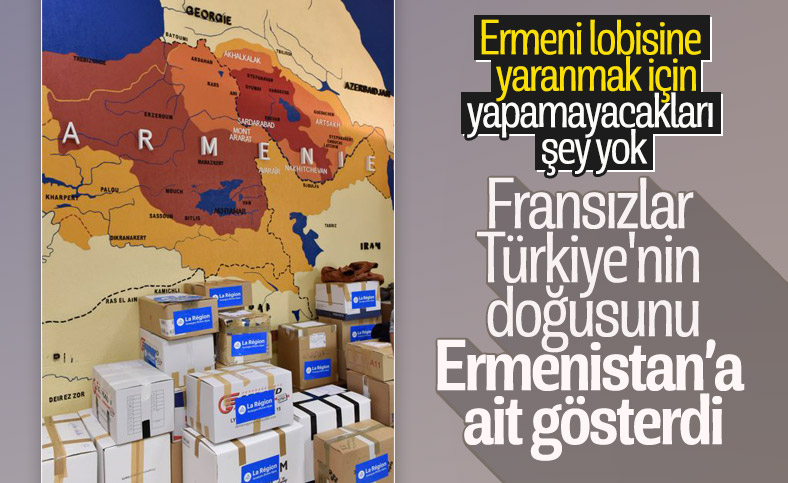 Fransızlardan skandal Ermenistan haritası paylaşımı