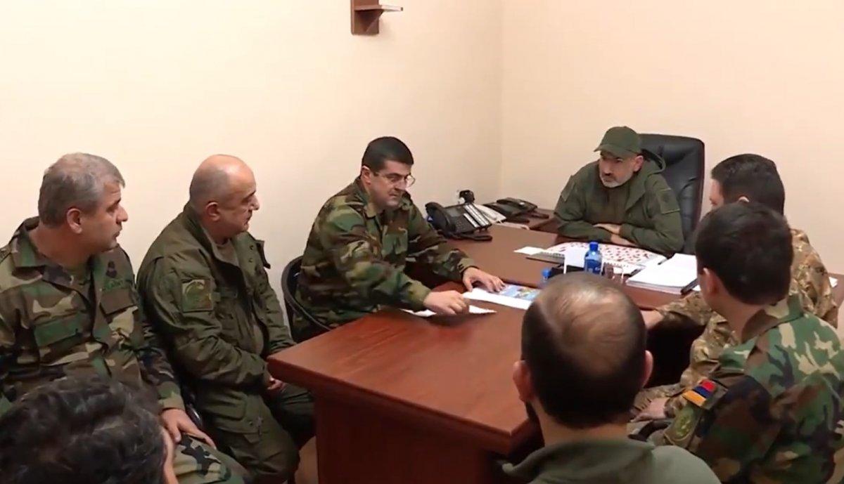 Ermenistan Başbakanı Nikol Paşinyan cephe hattında #3