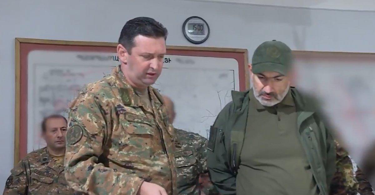 Ermenistan Başbakanı Nikol Paşinyan cephe hattında #1