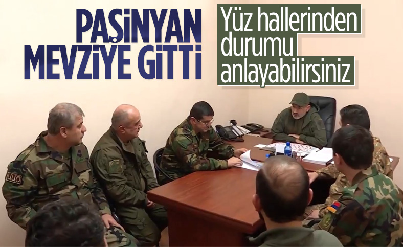 Ermenistan Başbakanı Nikol Paşinyan cephe hattında