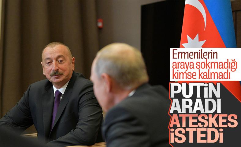 Vladimir Putin ve İlham Aliyev, Dağlık Karabağ'ı görüştü